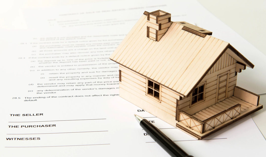 The paperwork of a property buying company in Brooklyn, NY